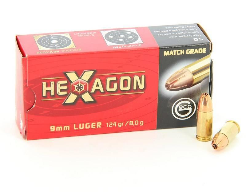 Náboj Geco 9mm Luger Hexagon 124 gr, 1 ks | alfatactical cz